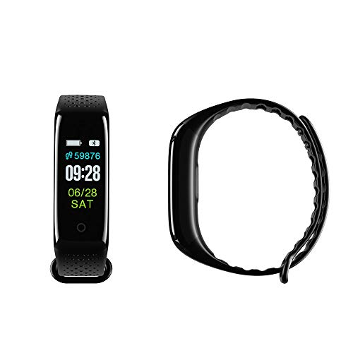 XZDCDJ Fitness Armband Smartwatch Damen, Aktivitätstracker Z6 Smart Color Screen Blutdruck-Übung Herzfrequenz-Schrittzähler Smart Watch Schwarz