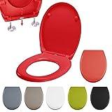 MSV Asiento para WC (Duroplast) con extraíble, Acero Inoxidable,, 30x 20x 15cm