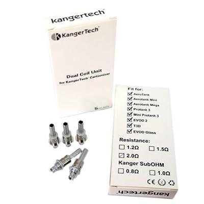 5er Pack Upgrade Dual Coil Verdampferköpfe V2 von Kanger, eZigarette von Kanger
