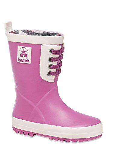 Kamik Raingame, Bottes en caoutchouc de hauteur moyenne, non doublées mixte enfant - Pink(PIN)