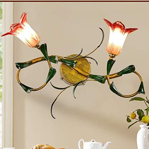 WENYAO Ali American Spiegel Scheinwerfer/Retro Pastoral Avenue Lampe/Nacht Kunst Wandleuchte (Farbe: lila)