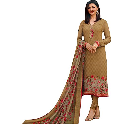 Lady Line Italian Crepe Embroidered Salwar Suit Womens Indian Dress Pakistani Salwar...