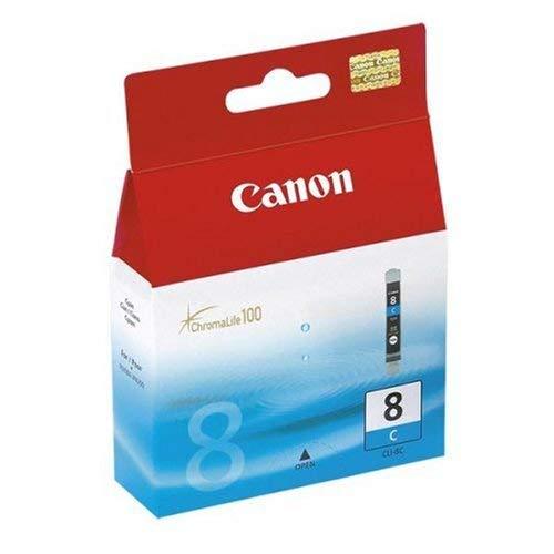 Canon CLI-8 C original Tintenpatrone  Cian für Pixma Inkjet Drucker MX700-MX850-MP500-MP510-MP520-MP520x-MP530-MP600-MP600R-MP610-MP800-MP800R-MP810-MP830-iP3300-iP3500-iP4200-iP4200x-iP4300-iP4500-iP4500x-iP5200-iP5200R-iP5300-iP6600D-iP6700D-iX4000-iX5000-PRO9000-PRO9000MarkII (Drucker Canon Pixma Ip4200)