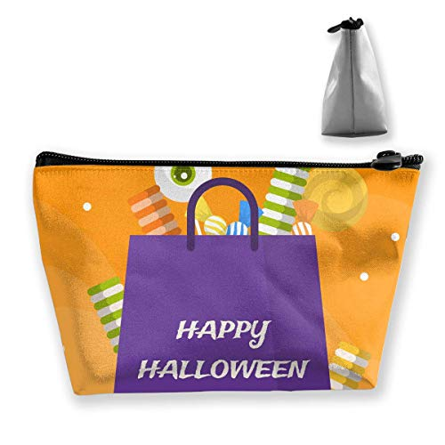 Halloween Candy Bag Women Cosmetic Bags Multifunktions-Kulturbeutel Organizer Travel Wash Lagerung (Trapez)