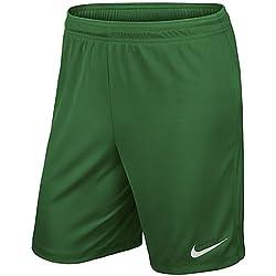 Nike YTH Park II Knit Short NB Pantalón Corto, Niños, Pine Green/Blanco, XS