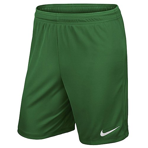 Nike Fashion Shorts (Nike Kinder Park II Knit Shorts ohne Innenslip, pine green/white, L, 725988-302)