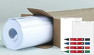 Flipchart Flip Chart Papier Blöcke günstig 100 Blatt + 4 x Flipchartmarker