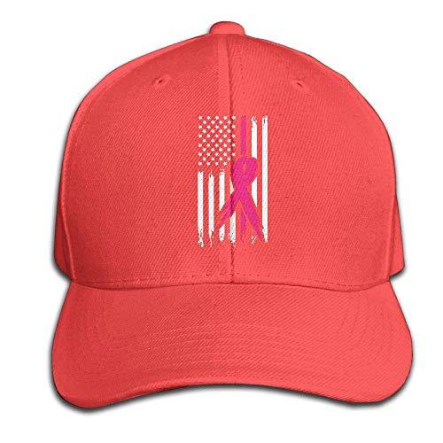 Helen vi Pink Ribbon Brustkrebs Bewusstsein Flagge 1 Mens Womens verstellbare Snapback Dad Hats Baseball Cap (Pink Spaziergänge Ribbon)