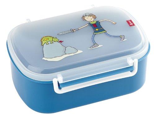 sigikid 24461 - Brotzeitbox Lunchbox Ritter Rettich für Jungen, blau