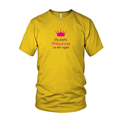 zu mir sagen - Herren T-Shirt, Größe: XXL, Farbe: gelb (Mama Und Mir Kostüm)