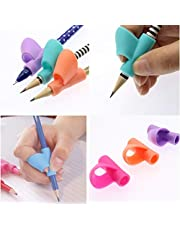 Okayji Children Pencil Holder Pen Writing Aid Grip Posture Correction Tool, 3-Pieces Set