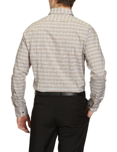Seidensticker Herren Businesshemd Slim Fit 224962 Mehrfarbig (Karo beige (26))