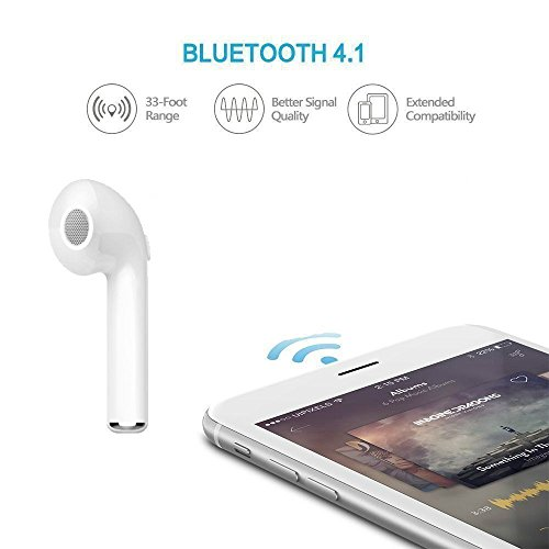 Good Click Wireless Bluetooth Headset (White)