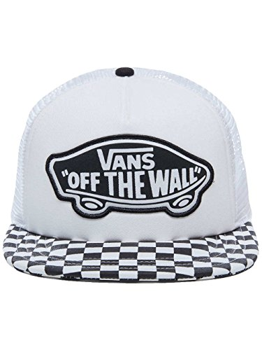 Vans Apparel Damen Baseball Cap Beach Girl Trucker Hat, Schwarz (Black-White Checkerboard 56M), One Size (Vans Kids Black)