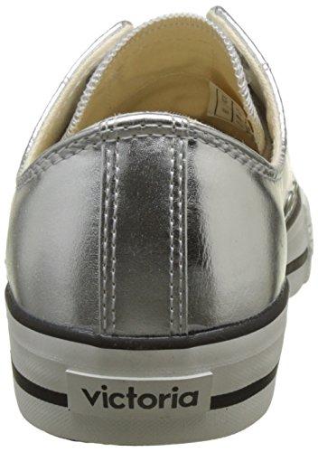 Victoria Basket Metálico autoclave, Sneaker Unisex – Adulto Argento (Plata)