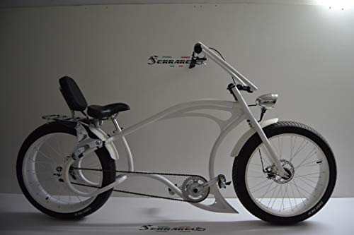 Cicli Ferrareis Bici Chopper Fat Bike 26 Bianco Cruiser Bike Custom Bike PERSONALIZZABILE