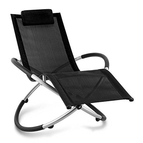 blumfeldt Chilly Billy ergonomische Relaxliege Liegestuhl Gartenstuhl Klappstuhl (Liege, 120 kg maximale Belastung, atmungsaktiv, witterungsbeständig, pflegeleicht, faltbar) schwarz