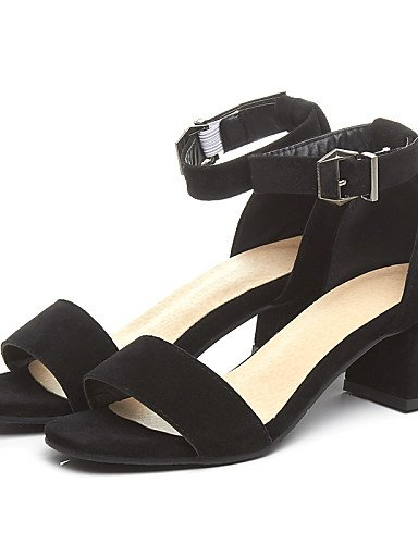LFNLYX Chaussures Femme-Bureau & Travail / Habillé / Décontracté-Noir / Jaune / Gris-Gros Talon-Bout Ouvert / D'Orsay & Deux Pièces-Sandales-PU Yellow