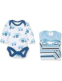 Twins Baby-Jungen Body Bulldozer 3er Pack