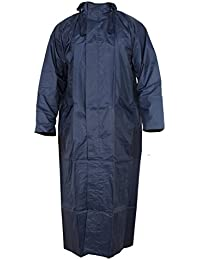Glamio Women's Rain Coat (Navy_Blue_Free Size)