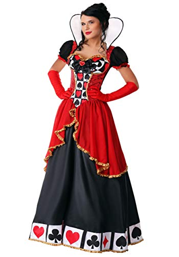 (Women's Supreme Queen of Hearts Fancy Dress Costume Small)