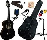 Pack Guitare Classique 3/4 (8-13ans) Pour Enfant Avec 7 Accessoires (noir)