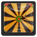 Bennigiry - Maniglie quadrate per porte e armadietti, in vetro di cristallo, per freccette, ergonomiche, 3 pezzi
