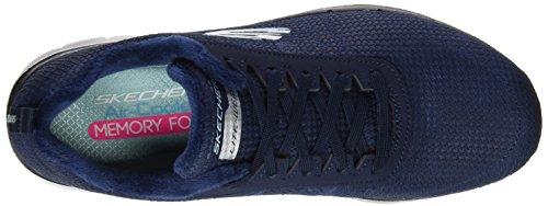 Skechers Flex Appeal 2.0 Shadow Play, Baskets Basses Femme Noir (BBK)