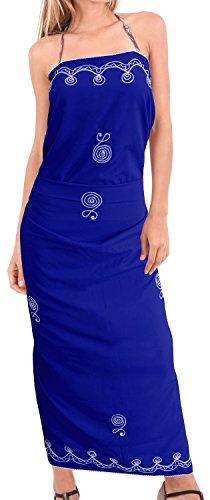 empfindliche Bikinibadebekleidung gestickten Strand Badeanzug Rayon Sarong vertuschen Vivid Blue | Uns: 26W (2X) / Großbritannien: 28