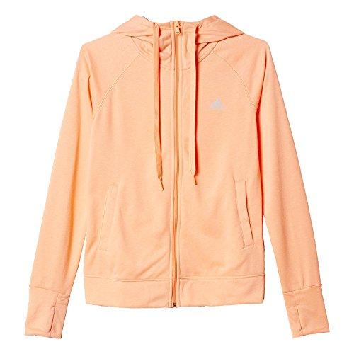 adidas Damen Sweatshirt Prime FZ Hoody, Orange/Grau, XS, 4055344144435
