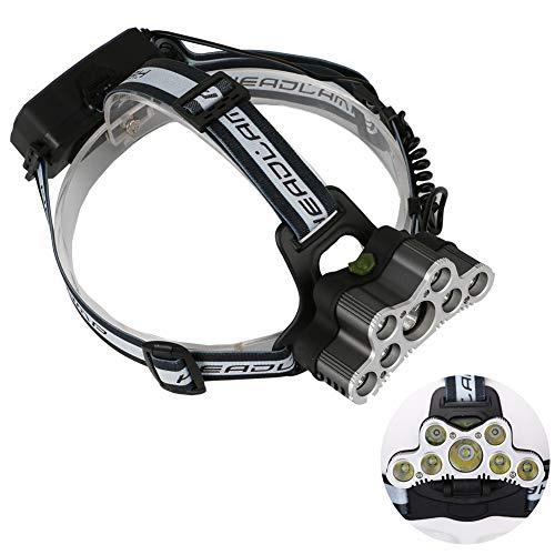 MBEN 7 LED-Scheinwerfer, 6-Modus-LED-Arbeitsscheinwerfer wasserdichte Stirnlampe, Die Hellsten 5000 Lumen, Scheinwerfer Taschenlampe Camping, Laufen, Wandern, Angeln