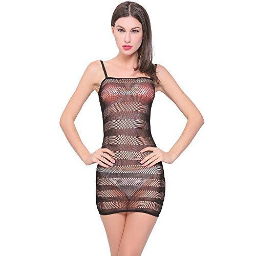 Mkxiaowei Gestreifte Strümpfe Gruppe Sex Kleid sexy Netz Kleid hängenden Fische net sexy Versuchung Rock Zebra Streifen Wickeln hip Rock Enge Strümpfe (Strümpfe Net Halterlose Fische)