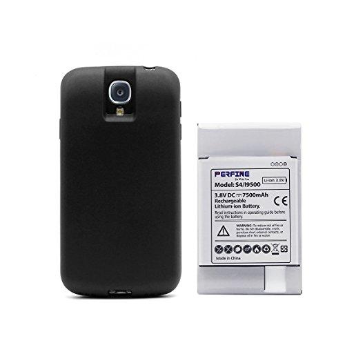 Batteria Galaxy S4 Perfine [7500mAh] di Ricambio per Samsung Galaxy S4/I9500/L720(Sprint)/I545(Verizon)/I337(AT&T)/M919(T-Mobile) Batteria Estesa con Custodia di Protezione TPU Full Edge + NFC (Samsung Galaxy S4 Für Tmobile)