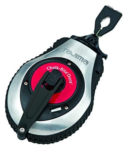 Tajima Markierwerkzeug, Schlagschnur, Schlagschnurgerät (Schnellkurbelsystem Abschnüren und Markieren Aller Untergründe schneller Aus-und Rückzug 1.0 mm x 30 m), CR401SD