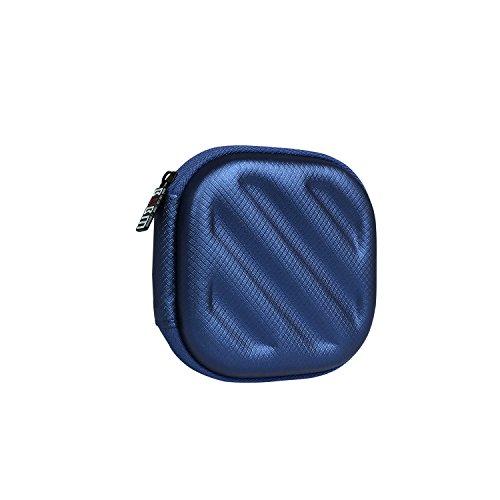 BUBM Piazza Custodia rigida sacchetto scatola Cuffie di immagazzinaggio per auricolare / cuffia / iPod / MP3, Blu scuro