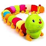 Agnolia Soft Toy Kid for Girl/boy Stuffed Colorful Soft Caterpillar - 92 cm