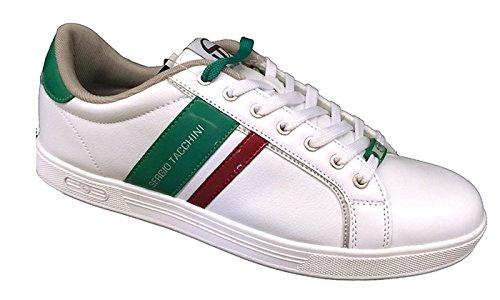 Sergio Tacchini 12800 scarpe uomo bianche pelle Tg.44