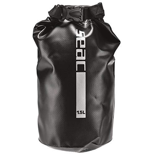 Seac Dry Bag Sacca Stagna Impermeabile per Subacquea e Nautica Nero 15 litri