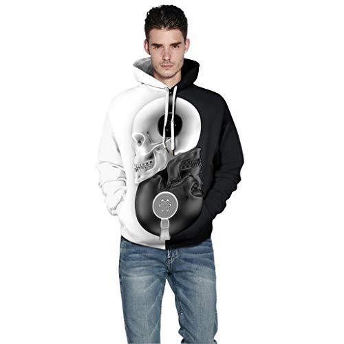 Halloween 3D Druck SKULL Kapuzenpullover Unisex Sweatshirt Langarm Blutdruck Paare Top Shirt Herbst Hoodie Pullover Herren Damen Horror Pulli Sweatshirt -