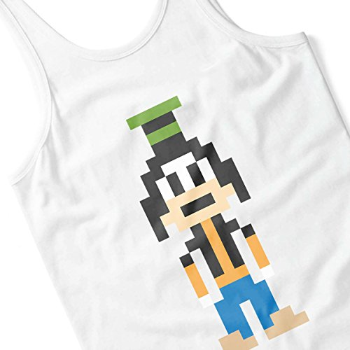 Goofy Pixel Character Women's Vest white