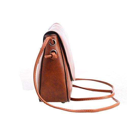 Transer PU Leather Handbags & Single Shoulder Bags Women Zipper Bag Girls Hand Bag, Borsa a spalla donna Black 22cm(L)*16(H)*6cm(W) Coffee