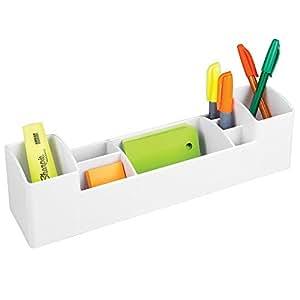 mdesign schreibtisch und b ro organizer 8 f cher wei b robedarf schreibwaren. Black Bedroom Furniture Sets. Home Design Ideas