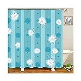 Daesar Badvorhang Anti-Schimmel Blumen Badezimmer Duschvorhang aus Polyester-Stoff 120x180 cm