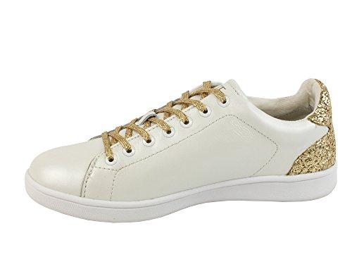 Guess Damen Super2 Sneakers White Gold