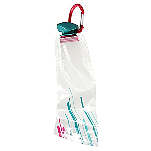 Wasserbeutel - TOOGOO(R)3pcs 700 ML faltbare Wiederverwendbar Wasserbeutel Trinkflasche Fahradflasche BPA Frei Weiss
