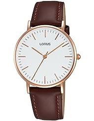 Lorus Hombre Reloj de pulsera analógico cuarzo piel rh886bx9