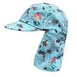 Boomly Bambino Ragazzo Cappello da Sole con Protezione per Il Collo Visiera cap Protezione UV Protezione Solare Spiaggia Cappello Estivo Berretto da Pesca