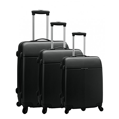 Set de 3 valises 4 roues carbon robust caroline bleu