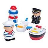 Elegant Baby Bath Time Fun Rubber Water Squirties, Travel Party