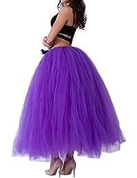 Enaguas multicapa de volantes Frilly de Ballet faldas largas Tutu del tutú del ballet Fiesta Boda de las mujeres